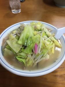 野菜ちゃんぽん大盛り お店は早良区の福重にある長崎屋