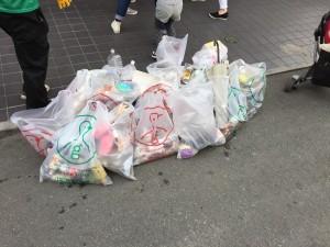 ゴミは一杯集まりました