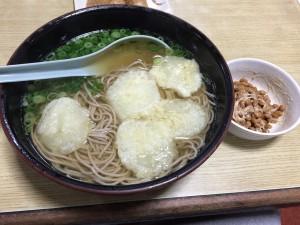 ヤーコン入の蕎麦と納豆