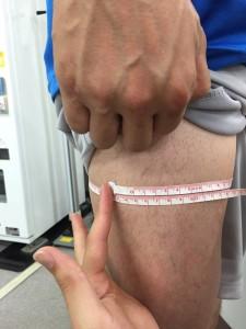 今回計測した足は利き足である右足です